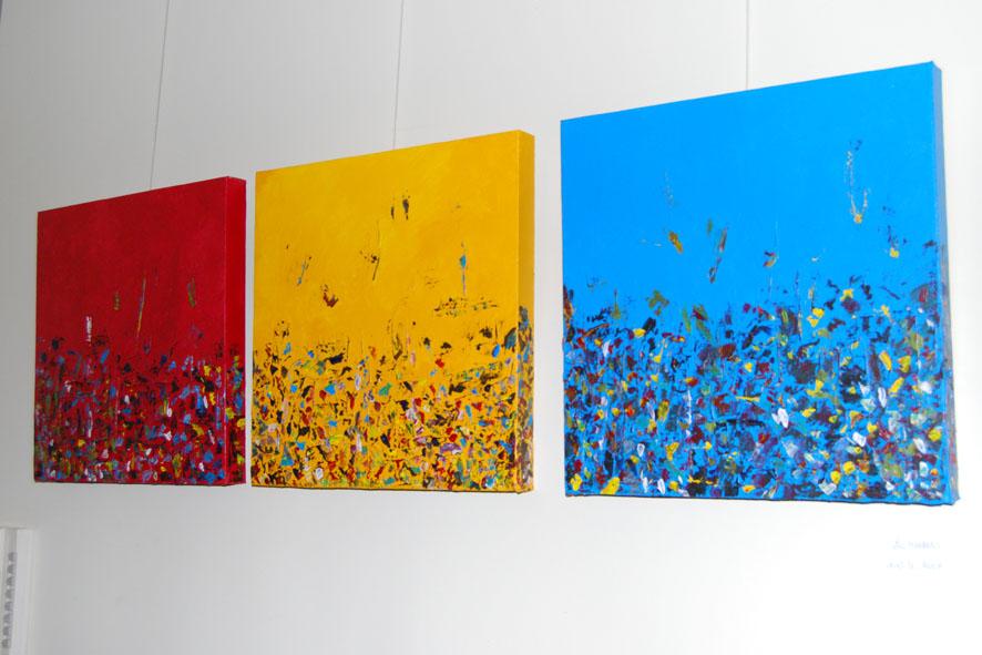 kunstwerk van de hand van Luc Meekers, vormingscoördinator bij het OCMW Genk